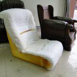 椅座與靠背採無骨架型式