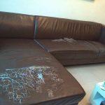 沙發修理前(客戶提供)